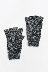 Urban Outfitters Marled Fingerless Glove Black Multi