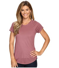 The North Face Nueva Short Sleeve Top Renaissance Rose Women's Short Sleeve Pullover Brown