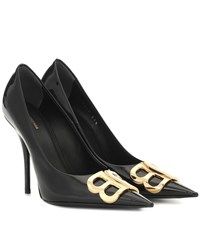Balenciaga Bb Patent Leather Pumps Black
