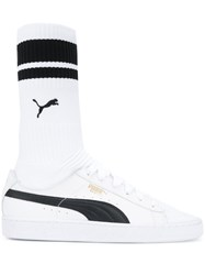 Puma Sock Sneakers Polyamide Rubber White