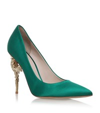 Ralph And Russo Baroque Court Shoes 120 Female Dark Green