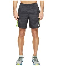 New Balance Accelerate 7 Short Typhoon Print Hi Lite Men's Shorts Black