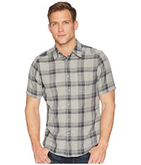 Nau Short Sleeve Bilateral Shirt Caviar Plaid Short Sleeve Button Up Gray