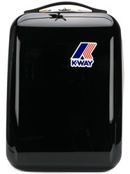 K Way Logo Zipped Backpack Black