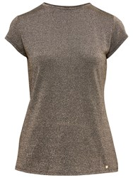 Ted Baker Misy Fitted Sparkle T Shirt Gold