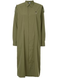 Hysteric Glamour Oversized Shirt Dress Polyester Green