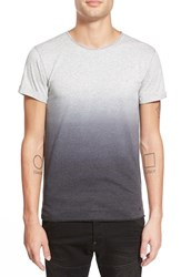 Men's Alexander Simai Elongated Two Color Dip Dye T Shirt Heather Grey Black