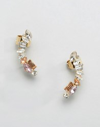 Johnny Loves Rosie Jewelled Ear Cuff Clear Lilac