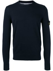 Stone Island Crew Neck Jumper Blue