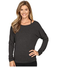 Lole Libby Long Sleeve Top Black Heather Women's Long Sleeve Pullover