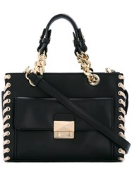 Karl Lagerfeld Stylised Seam Tote Bag Black