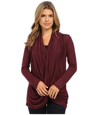 Culture Phit Cowl Neck Long Sleeve Top Burgundy Women's Clothing