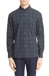 Todd Snyder Men's Overdyed Plaid Shirt