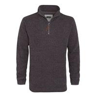 Weird Fish Funnel 1 4 Zip Soft Knit Jumper Grey