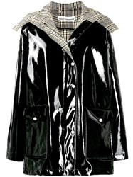 Paco Rabanne Detachable Hood Raincoat Black