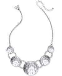 Inc International Concepts Hammered Disc Statement Necklace Only At Macy's Silver