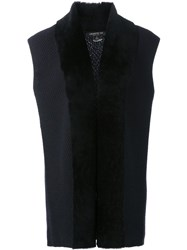 Lafayette 148 New York Sleeveless Blazer Blue
