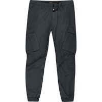 River Island Big And Tall Navy Blue Cargo Tapered Trousers