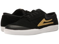 Lakai Griffin Xlk Black Gold Suede Men's Skate Shoes
