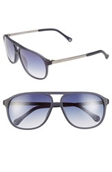 Men's Jack Spade 'Haskell' 60Mm Navigator Sunglasses Matte Blue Navy Gradient