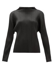 Issey Miyake Pleats Please Monthly Colours Tech Pleated Top Black