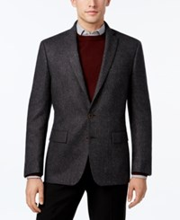 Ryan Seacrest Distinction Men's Slim Fit Charcoal Flecked Sport Coat Only At Macy's