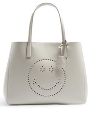 Anya Hindmarch Ebury Smiley Leather Tote Grey