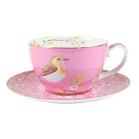 Pip Studio Early Bird Cappuccino Cup And Saucer Pink