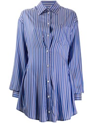 Unravel Project Striped Shirt Dress Blue