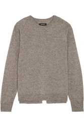 Isabel Marant Clash Split Back Wool Gray