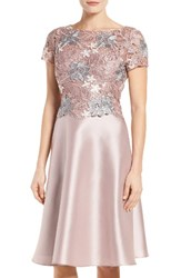 Adrianna Papell Women's Guipure Lace And Mikado Dress