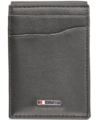 Tommy Hilfiger Men's Lloyd Magnetic Front Pocket Wallet Black
