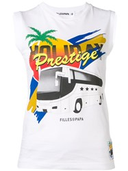 Filles A Papa Holiday Prestige Tank Top White