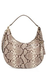 Michael Michael Kors Large Lauryn Leather Hobo Brown Natural