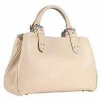 Fontanelli Soft Calf Leather Satchel Bag White Cream