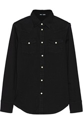 Blk Dnm 1 Washed Stretch Denim Shirt Black