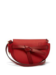Loewe Gate Mini Grained Leather Cross Body Bag Red