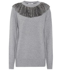 Christopher Kane Wool And Cashmere Sweater Grey