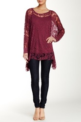 Luma Long Sleeve Blouse Red