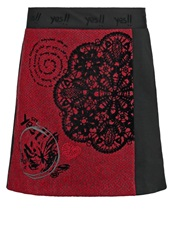Desigual Carmen Mini Skirt Rio Red