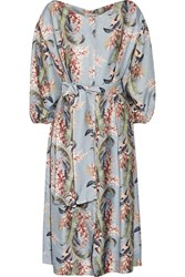 Zimmermann Winsome Printed Twill Dress Light Denim