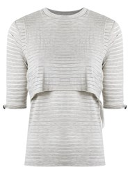 Lilly Sarti Layered Top Nude Neutrals