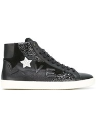 Saint Laurent Signature Court Classic Sl 06 Love Mid Top Sneakers Black