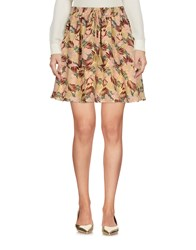 Maison Scotch Mini Skirts Light Yellow