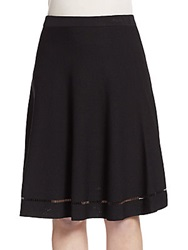 Saks Fifth Avenue Flared Knit Skirt Black