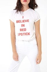 Ban.Do Ban. Do I Believe In Red Lipstick Classic Tee Ivory