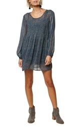 O'neill Summerland Convertible Romper Dress Mood Indigo