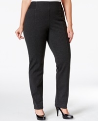 Style And Co. Plus Size Stretch Waist Dress Pants Only At Macy's Deep Grey Heather