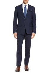 Nordstrom Men's Men's Shop Trim Fit Solid Stretch Wool Travel Suit Navy