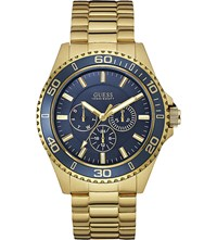 Guess W0172g5 Chaser Gold Plated Stainless Steel Watch Blue